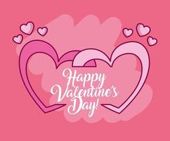 valentines day celebration with hearts
