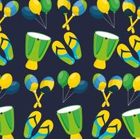 Brazilian Carnival celebration with music instruments pattern