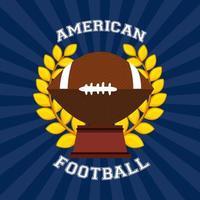 cartel de fútbol americano con trofeo vector
