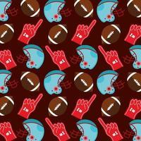fondo de patrón de deporte de fútbol americano vector