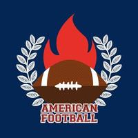 American football sport banner with ball