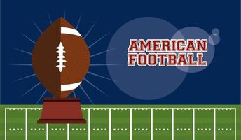 American football sport poster with trophy