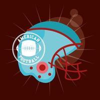 cartel de deporte de fútbol americano con casco vector