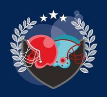 american football sport poster with helmets vector