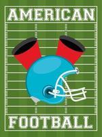 american football sport poster with helmet vector