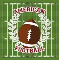 American football sport banner with ball vector