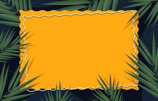 amarillo en un fondo de hoja verde vector