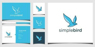 Bird logo templates and business card design Premium Vector