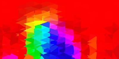 Dark multicolor vector gradient polygon layout.