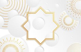 White Elegant and Luxurious Background With Rounded Shapes vector