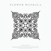 Flower Mandala. Vintage decorative elements. Oriental pattern, vector illustration.