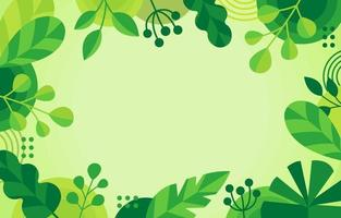 Green Geometric Floral Background vector