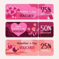 Valentine's Day Voucher Set vector