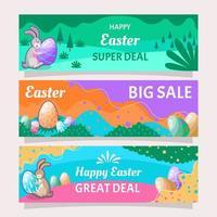 Easter Marketing Banner Set vector