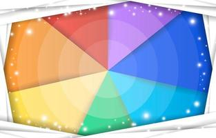 Colorful Abstract Rainbow Background vector