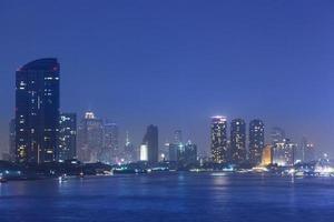 Bangkok cityscape at night photo