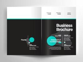 Business brochure layout template vector