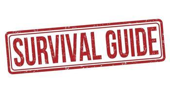 Survival guide grunge rubber stamp