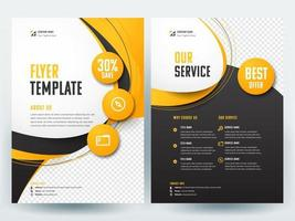Yellow  business flyer layout template vector