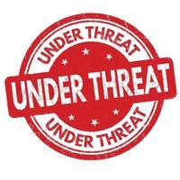 Under threat sign or stamp