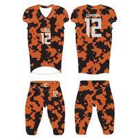 American Football Custom Uniforms vector