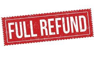 Full refund grunge rubber stamp vector