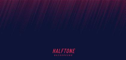 Abstract pink and red diagonal halftone texture on dark blue background with copy space. Modern simple dots pattern. Vector illustration