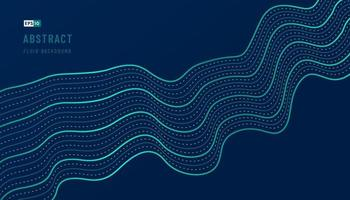 Abstract green and blue wavy pattern design of wavy decoration artwork template background with copy space. Futuristic technology  concept. Movement of sound dynamic style.  Vector illustration