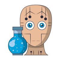concepto de iconos de inteligencia artificial cartoon vector