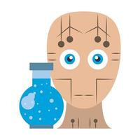 artifical intelligence icons concept cartoon