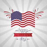 happy presidents day celebration poster with flag