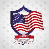 presidents day celebration poster with flag