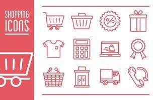 paquete de iconos comerciales vector