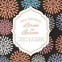 save the date elegant frame