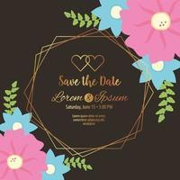 save the date geometric frame