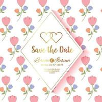 save the date diamond frame