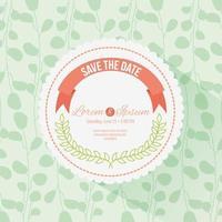 save the date circular frame