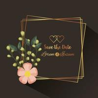 save the date square frame