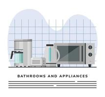 Kitchen appliances banner template vector