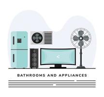 plantilla de banner de electrodomésticos vector