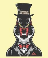 ilustración de hombre mágico de pato vector