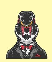 ilustración de la oficina de pato vector