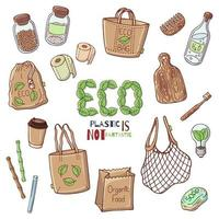 Eco elements collection vector