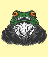 frog office man illustration vector