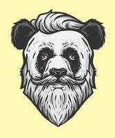 panda cool man illustration vector