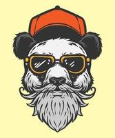 modern style of panda illustration vector
