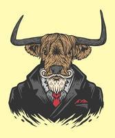 cow man illustration vector