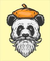 Ilustración de artista panda vector