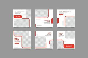 conjunto de redes sociales de marketing empresarial digital vector