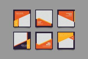 paquete de redes sociales de negocios digitales vector